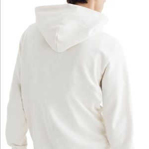 MADEWELL   Men's hooded sweatshirt in white